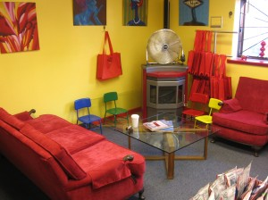 The red couch (and chair) of Red Couch Trading Post